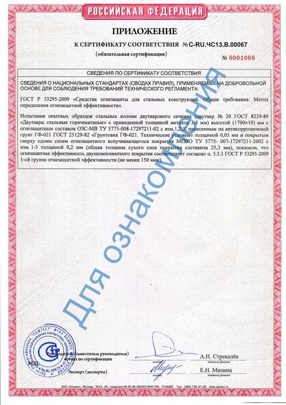 Состав эксплуатации руководство по озс-мв огнезащитный